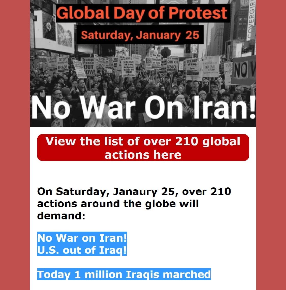 20 01 25 global day of protest