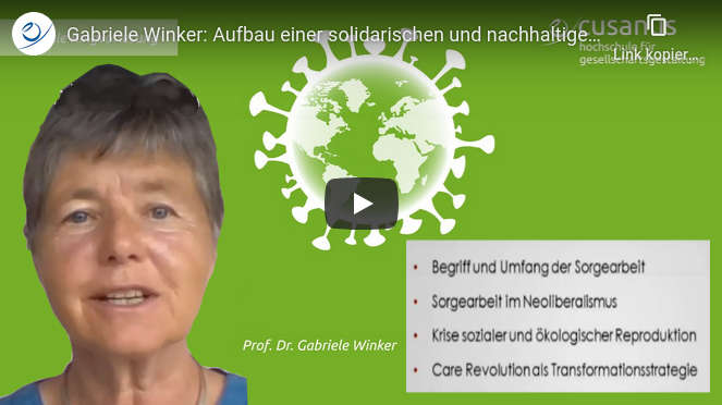 Video Gabriele Winker CARE Revolution