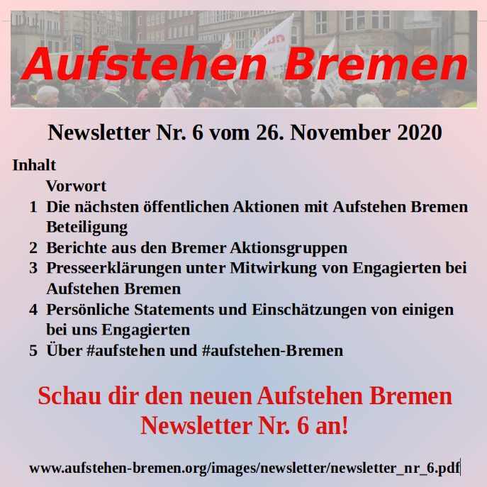 newsletter nr. 6 Nov. 2020
