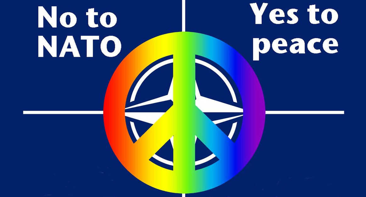 no to NATO Yes to peace